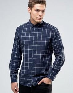 Рубашка классического кроя в тонкую клетку Esprit - Темно-синий