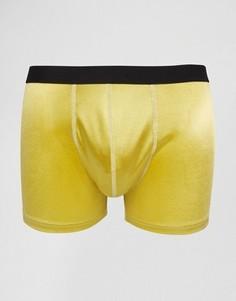 Золотистые боксеры‑брифы металлик ASOS - Золотой