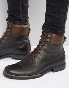 Кожаные ботинки на шнуровке Bellfield Hyder - Рыжий