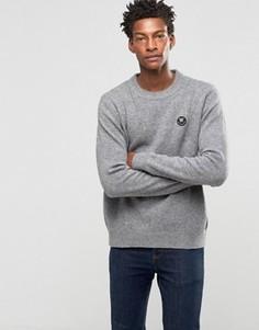 Джемпер с круглым вырезом и логотипом Wood Wood Yale - Серый