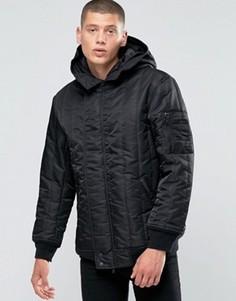 Черная стеганая куртка Converse MA-1 10001142-A01 - Черный