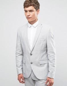 Льняной блейзер Selected - Серый