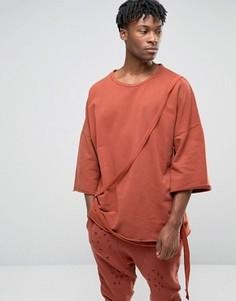 Свободный свитшот Granted - Оранжевый