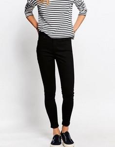 Супероблегающие джинсы с завышенной талией Jack Wills Fernham - Черный