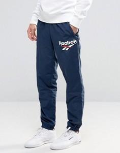 Синие джоггеры с логотипом Reebok Vector AZ9541 - Синий