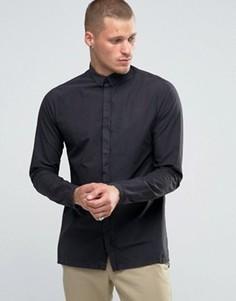 Удлиненная рубашка с ровным низом Selected Homme Plus - Черный
