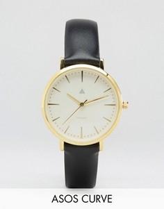 Часы с черным кожаным ремешком ASOS CURVE Premium - Черный