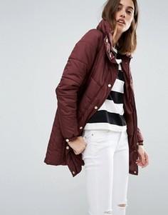 Стеганое пальто с высоким воротом Vero Moda - Коричневый
