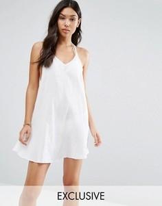 Пляжное платье с бретельками на спине Wolf & Whistle - Белый