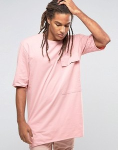 Футболка с большим карманом Granted - Розовый