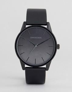 Часы с черным кожаным ремешком UNKNOWN Urban - Черный