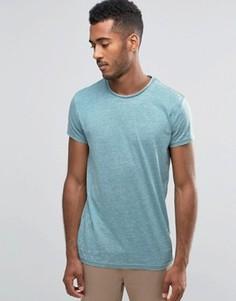 Однотонная футболка с выжженным эффектом Brave Soul - Зеленый