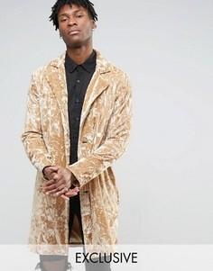 Бархатное пальто Reclaimed Vintage - Stone