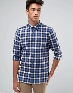 Темно-синяя поплиновая рубашка классического кроя в клетку Jack Wills - Темно-синий