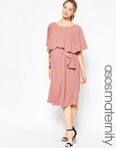 Платье миди для беременных ASOS Maternity - Фиолетовый