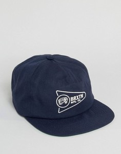 5-панельная кепка Brixton Fury - Темно-синий
