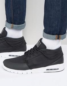 Черные кроссовки средней высоты Nike SB Stefan Janoski Max 807507-001 - Черный