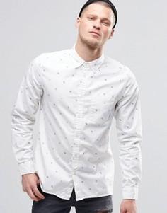 Белая рубашка классического кроя с принтом Element Moore - Белый