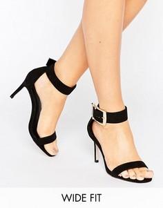 Сандалии для широкой стопы на каблуке ASOS HANSON - Черный