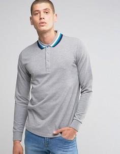 Трикотажная футболка‑поло с длинными рукавами Ellesse Italia - Серый