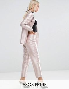 Розовые брюки с эффектом металлик ASOS PETITE - Розовый