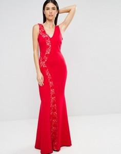 Платье макси с кружевными вставками Jessica Wright - Красный