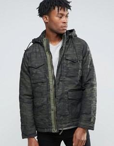 Куртка с камуфляжным принтом Wrangler - Зеленый