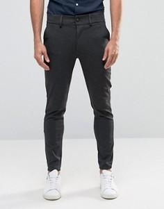 Зауженные брюки с манжетами Only & Sons - Серый