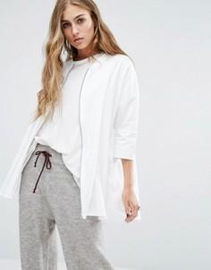 Рубашка с молнией спереди Noisy May - Белый