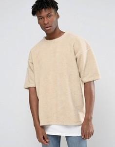 Oversize-футболка с отделкой борг Other UK - Белый
