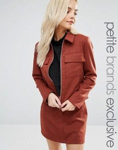 Куртка в строгом стиле Fashion Union Petite - Коричневый