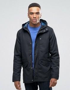 Хлопковая куртка с капюшоном Threadbare - Черный