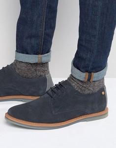 Темно-синие замшевые туфли дерби Frank Wright Woking - Синий
