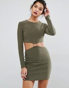 Платье с вырезами и длинными рукавами Bec & Bridge Montana - Зеленый