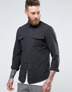 Рубашка слим Hoxton Shirt Company - Серый