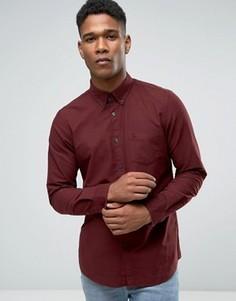 Темно-красная оксфордская рубашка классического кроя Jack Wills - Красный