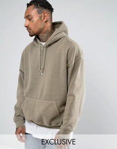 Серый oversize-худи Reclaimed Vintage Inspired - Серый