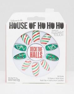Накладные ногти House Oh Ho Ho Ho от Elegant Touch - Deck The Halls - Мульти
