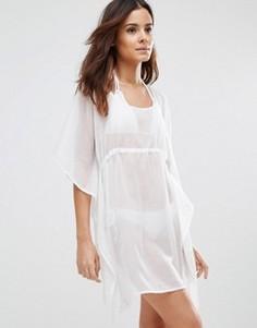 Свободное пляжное платье Echo - Белый