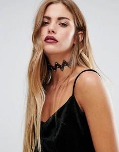 Кружевное ожерелье-чокер Love Rocks Halloween - Черный