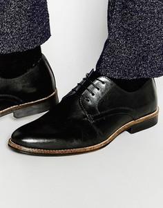 Черные кожаные туфли на шнуровке Red Tape - Черный