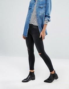 Укороченные джинсы скинни с классической талией Only Royal - Серый