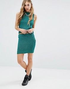 Вязаная юбка с люрексом Noisy May Glam - Зеленый