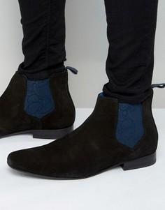 Замшевые ботинки челси Ted Baker Hourb - Черный