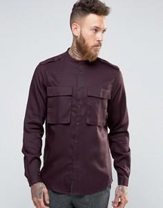 Рубашка классического кроя с двумя карманами ASOS - Фиолетовый