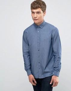 Облегающая рубашка из шамбре Calvin Klein - Синий