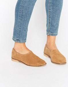 Замшевые туфли на плоской подошве ASOS MARRAKECH - Бежевый