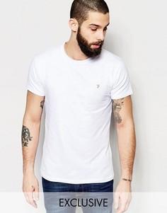 Эластичная футболка эксклюзивно для Farah - Белый