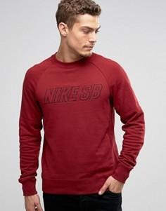 Красный свитшот с круглым вырезом Nike SB Everett 800139-677 - Красный