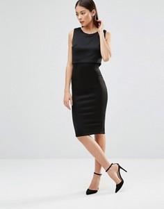 Платье миди без рукавов AX Paris - Черный